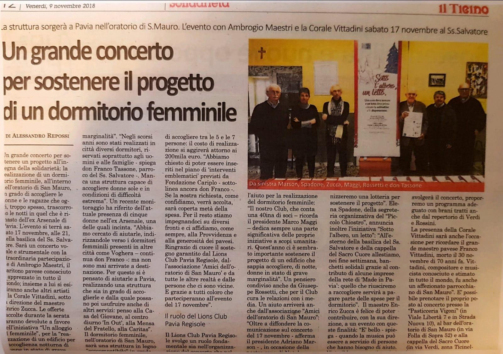 c3de6d29fe6a Un grande concerto per sostenere il progetto del dormitorio femminile