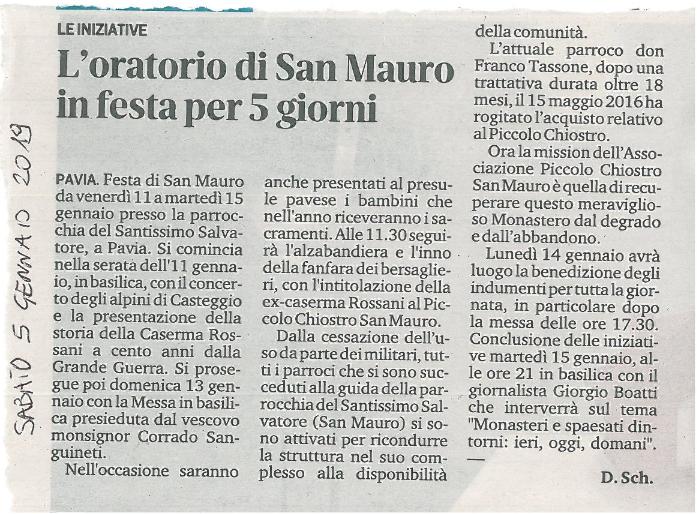 L' ORATORIO DI SAN MAURO IN FESTA